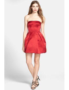 strapless-bow-back-satin-dress by jill-jill-stuart