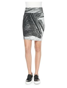 method-printed-jersey-pencil-skirt by helmut-lang