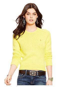 cotton-crewneck-sweater by ralph-lauren
