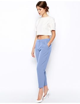 asos-peg-trouser-with-front-pleats by asos-collection
