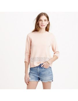 lace-hem-sweater by jcrew