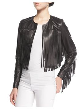 cropped-leather-fringe-jacket by bagatelle