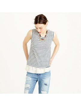 ruffle-hem-tank-top-in-stripe by jcrew