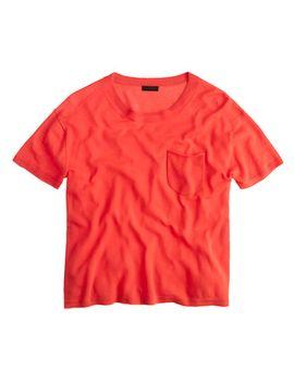 italian-featherweight-cashmere-pocket-t-shirt by jcrew