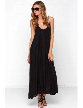 sun-sign-black-maxi-dress by lulus