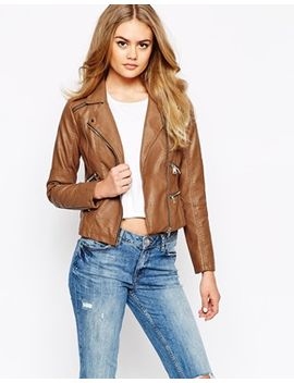 river-island-leather-look-biker-jacket by river-island