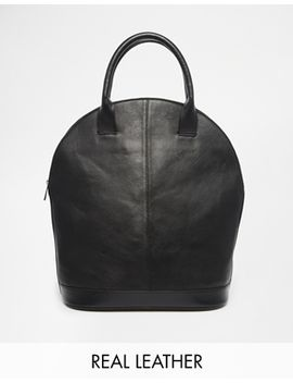 asos-leather-sleek-kettle-bag by asos-collection