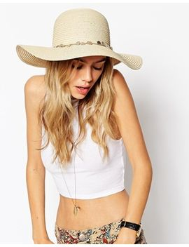 asos-straw-floppy-hat-with-coin-trim by asos-collection