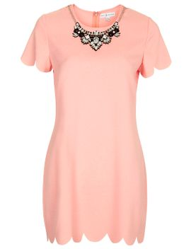 **scallop-edge-shift-dress-by-rare by topshop