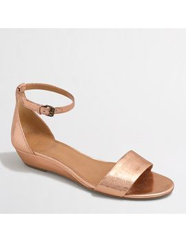 crackle-demi-wedge-sandals by jcrew