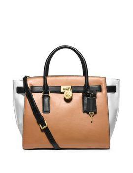 hamilton-traveler-large-color-block-leather-satchel by michael-kors