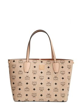 visetos-collection---medium-project-logo-stamped-coated-canvas-shopper by mcm