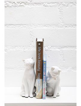 danya-b-leisure-cats-bookends by forever-21