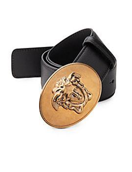 medusa-leather-belt by versace