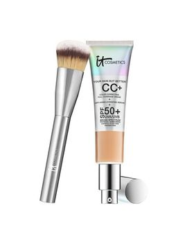 it-cosmetics-full-coverage-physical-spf-50-cc-cream-with-plush-brush by qvc