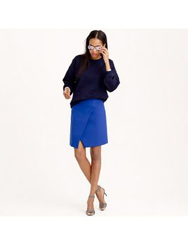 crossover-wrap-skirt by jcrew