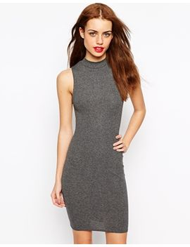 new-look-ribbed-funnel-neck-mini-dress by new-look