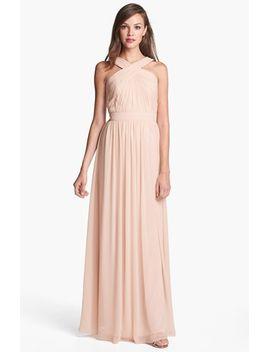 crisscross-chiffon-gown by monique-lhuillier-bridesmaids