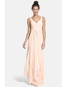 sleeveless-v-neck-chiffon-gown-(nordstrom-exclusive) by ml-monique-lhuillier-bridesmaids