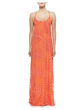 kelly-palm-print-chiffon-maxi-dress by alice-+-olivia