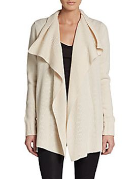 drape-front-wool-blend-cardigan by vince