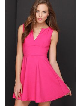 for-all-time-fuchsia-dress by lulus