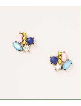 multicolored-cluster-stud-earrings by loft