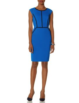 contrast-trim-sheath-dress by the-limited