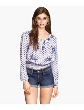 blouse-with-smocking by h&m