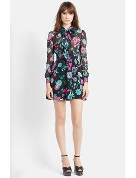 flower-print-silk-georgette-dress by saint-laurent