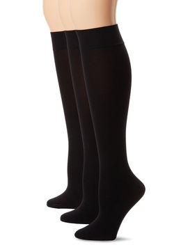 hue-womens-soft-opaque-knee-high-socks-(pack-of-3) by hue