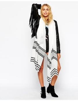 asos-oversized-scarf-in-border-stripe by asos-collection
