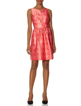 lace-print-fit-&-flare-dress by the-limited