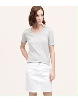 denim-skirt-in-white by loft