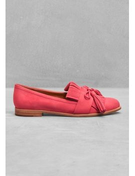 tassel-nubuck-flats by &-other-stories