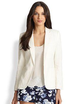 mehira-linen-blazer by joie