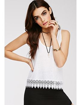 crochet-trimmed-tank by forever-21