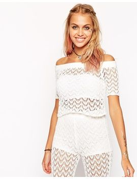 asos-crochet-cropped-top-in-off-shoulder-shape by asos-collection