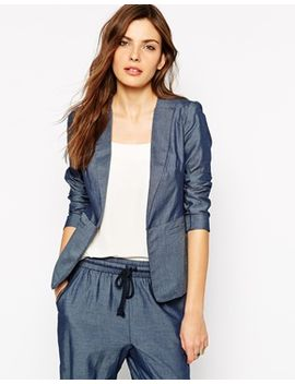 bcbgeneration-boxy-blazer-in-pinstripe by bcbgeneration