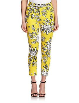 bouquet-print-pants by red-valentino