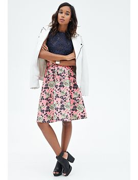 rose-matelassé-a-line-skirt by forever-21