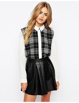 sister-jane-panelled-check-shirt by sister-jane