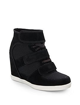 colette-suede-trimmed-sneaker-wedges by saks-fifth-avenue