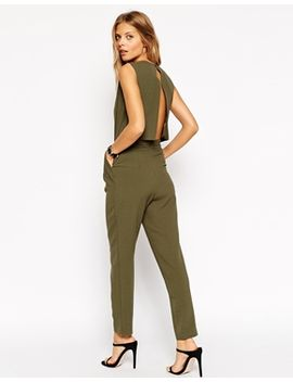 asos-jumpsuit-with-open-back-and-pleat-detail by asos-collection