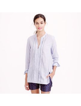 corded-popover-tunic-in-blue-stripe by jcrew