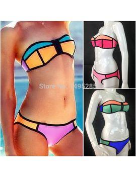 summer-bikini-swimwear-triangle-bikini-set-neoprene-bikinis-sexy-fashion-swimsuit-bath-suit-contrast-color-bikini-set by ali-express