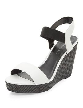 wide-fit-monochrome-ankle-strap-wedges by new-look