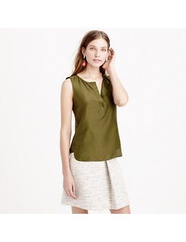 sleeveless-silk-shell by jcrew