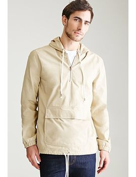 hooded-cotton-canvas-anorak by forever-21