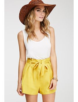 pleated-high-waisted-shorts by forever-21
